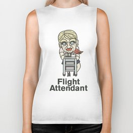 Flight Attendant Biker Tank