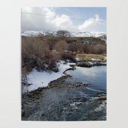 Winter River Awakening Poster