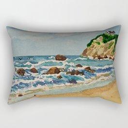 Block Island Beach Scene Rectangular Pillow