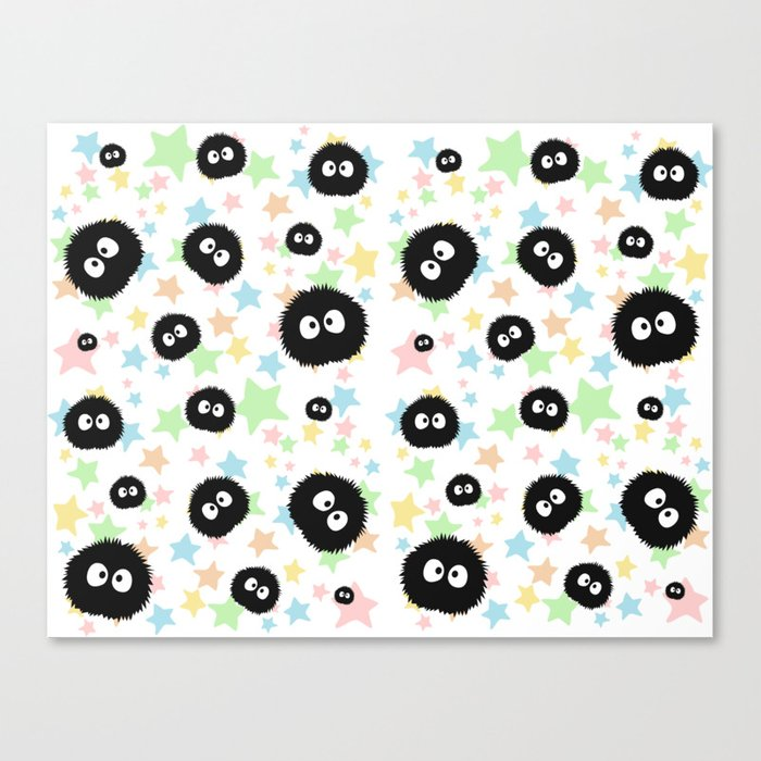 Soot Sprite with stars Canvas Print