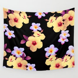 Hibiscus and Plumeria Wall Tapestry
