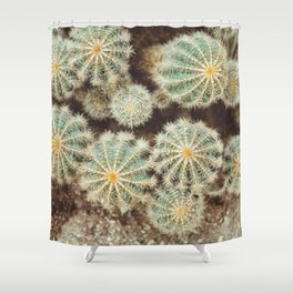 Biasenzaniro Prickle Me Much - Cactus Organic Texture Shower Curtain