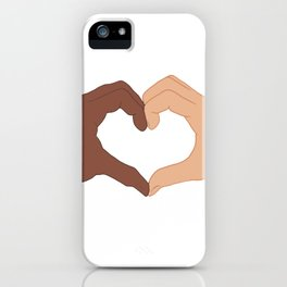 Black Lives Matter Equality and Friendship Heart Shape Hands iPhone Case