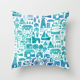 in the Spanish South coast Throw Pillow