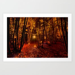 Electric Forest Disco Art Print