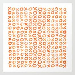 Xoxo valentine's day - orange Art Print