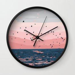 Sunset on Bornholn, Denmark Wall Clock