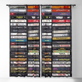 Old 80's & 90's Hip Hop Tapes Blackout Curtain