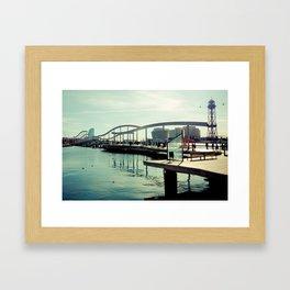 Barcelona: Bridge of the Port Framed Art Print