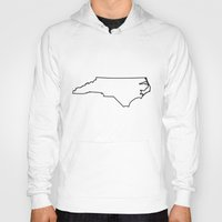 north carolina Hoodies featuring North Carolina by mrTidwell