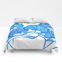 Blue Bloom Comforters