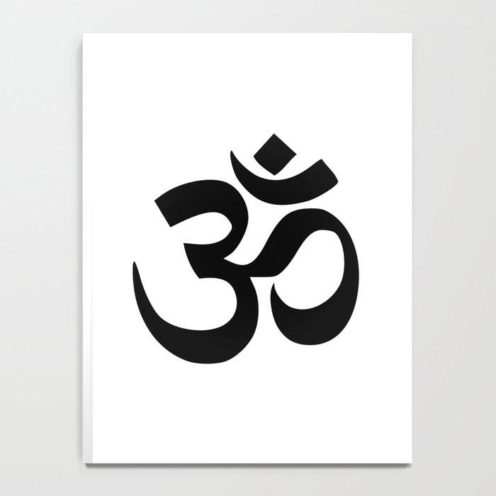 Minimal Black White Om Symbol Notebook By Minimallife Society6