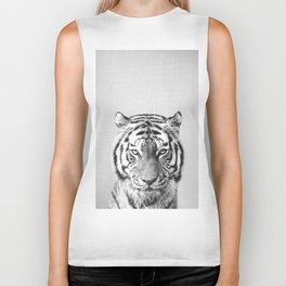 Tiger - Black & White Biker Tank