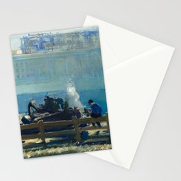Blue Morning, 1909 by George Bellows Stationery Cards