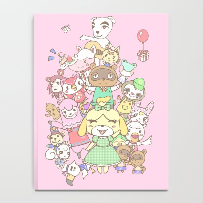 Animal Crossing (pink) Notebook