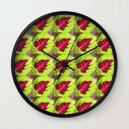 Coleus Leaf Wall Clock