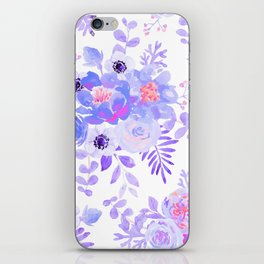 Lilac lavender violet pink watercolor elegant floral iPhone Skin