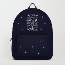 HAPPINESS CAN BE FOUND EVEN IN THE DARKEST OF TIMES - HP3 DUMBLEDORE QUOTE Backpack