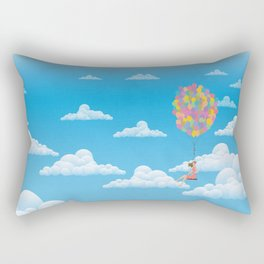 Balloon Girl Rectangular Pillow