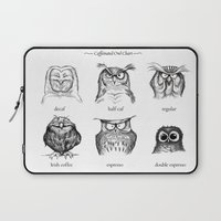lol Laptop Sleeves featuring Caffeinated Owls by Dave Mottram