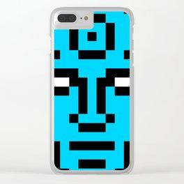 Dr. Manhattan Pixel Portrait Clear iPhone Case