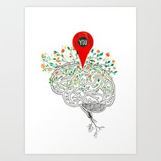 you are all over my Mind Art Print