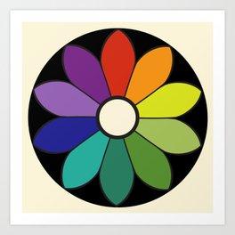 James Ward's Chromatic Circle (interpretation) Art Print