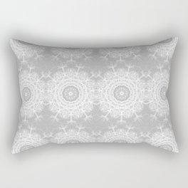 Gray Ice Star Mandala Rectangular Pillow