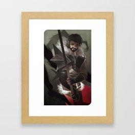 Here Lies the Abyss Framed Art Print