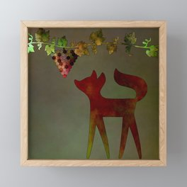 The fox and the grapes Framed Mini Art Print