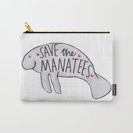 Save the Manatees Carry-All Pouch