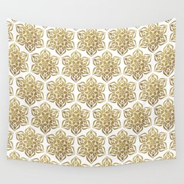 Gold Snowflake Wall Tapestry
