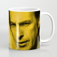 better call saul Mugs featuring Saul Goodman - Better Call Saul extremely Mug  by Pablo Napo