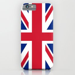 UK Flag, 3:5 Scale iPhone Case