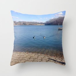 Lake Shawnee Throw Pillow