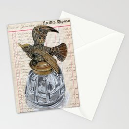 Hummingbird Inkwell in Gouache Stationery Cards