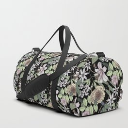 lush floral pattern with bee and beetles II Duffle Bag