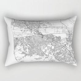 Tijuana White Map Rectangular Pillow