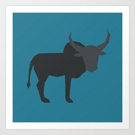 Miniature Zebu Bull II Art Print