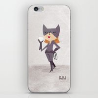 catwoman iPhone & iPod Skins featuring Catwoman by Popol