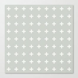 Gray Grey Plus Sea Salt Canvas Print