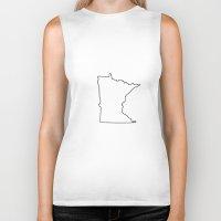 minnesota Biker Tanks featuring Minnesota by Shalon
