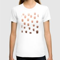 copper T-shirts featuring Copper Splotch by Lisa Argyropoulos