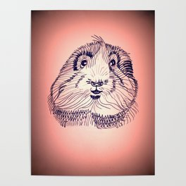 Peachy Guinea Pig Poster