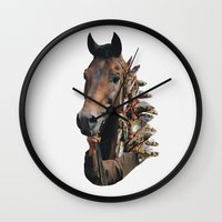 seahorse Wall Clocks featuring Seahorse by Lerson