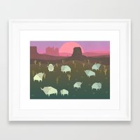 bison Framed Art Prints featuring Bison by N1MH
