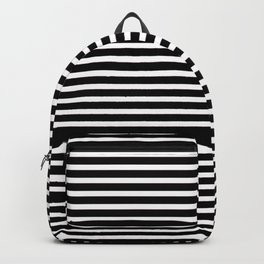 Black and White Thin Stripes Backpack