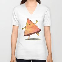 pyramid V-neck T-shirts featuring Pyramid by Pumpkin Snipes