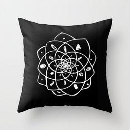 Energy Grid - Black Lotus Throw Pillow