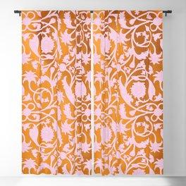 Pink Lotus Pattern Blackout Curtain